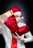 Чулок рождества красный Стоковые Изображения