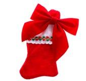 чулок рождества смычка стоковое фото rf