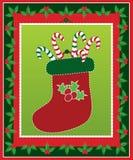 чулок рождества тросточек конфеты милый Стоковое Изображение RF