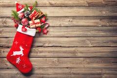 чулок рождества стоковые фотографии rf