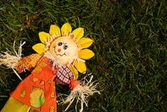 Чучело в саде Стоковые Изображения RF