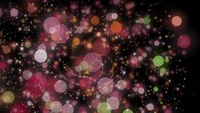 Чудесная анимация с пузырями в движении, 4096x2304 петле 4K иллюстрация штока