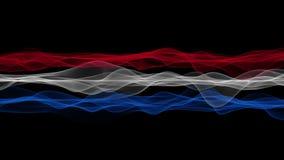 Чудесная голландская анимация для спортивных мероприятий, 4096x2304 петля 4K флага волны цвета иллюстрация вектора