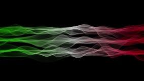 Чудесная итальянская анимация для спортивных мероприятий, 4096x2304 петля 4K флага волны цвета видеоматериал
