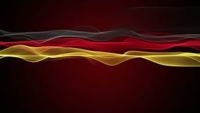 Чудесная немецкая анимация для спортивных мероприятий, петля HD 1080p флага цвета сток-видео
