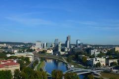 Чудесная панорама города Вильнюса, Европы стоковые изображения