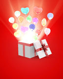 Чудесная подарочная коробка Стоковая Фотография RF