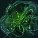 Чудесная сказочная светящая салатовая предпосылка Стоковое Фото