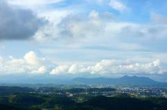 Чудесная страна Вьетнама, гора, пасмурная, зеленая долина Стоковая Фотография RF