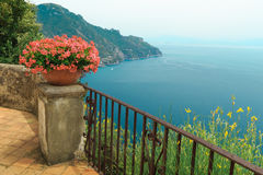Чудесная терраса сада виллы Rufolo стоковое фото