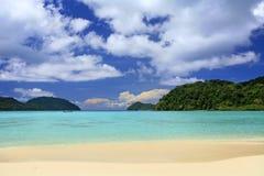 чудесное пляжа тропическое Стоковые Изображения RF