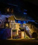 Чудесное рождество выделяя в Кольмаре, Эльзасе, Франции Stre Стоковая Фотография