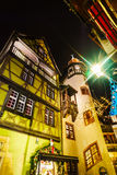 Чудесное рождество выделяя в Кольмаре, Эльзасе, Франции Stre Стоковое Изображение RF