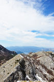 Чудесные прикарпатские горы Стоковые Фотографии RF