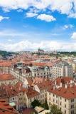 Чудесный взгляд к городу Праги в чехии Стоковая Фотография