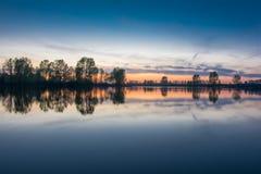 Чудесный заход солнца Стоковое Изображение
