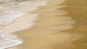 чывство выдержки пляжа дает медленные мягкие волны захода солнца очень сток-видео