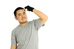 Чывство человека ослабляет после тренировки стоковая фотография