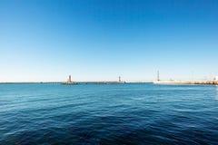 Чёрное море к маяку Стоковое Изображение RF