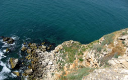 Чёрное море на Kaliakra стоковые фото