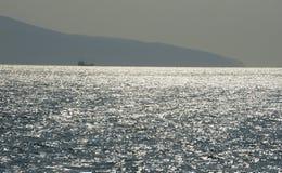 Чёрное море около рейда Novorossiysk Стоковые Изображения