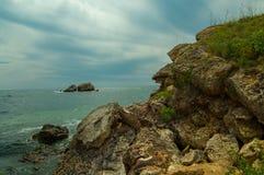 Чёрное море от Болгарии Стоковые Фотографии RF