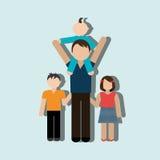 члены дизайна семьи Стоковая Фотография