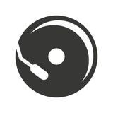 чд-плеер изолировал дизайн значка Стоковая Фотография
