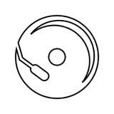 чд-плеер изолировал дизайн значка Стоковое Изображение RF