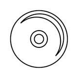 чд-плеер изолировал дизайн значка Стоковые Фотографии RF