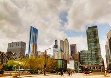 Городской пейзаж Чiкаго с башней Willis (Sears Tower) Стоковые Изображения RF