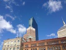 Шаберы городской Бостон неба стоковое изображение