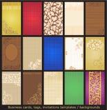 шаблоны бирок приглашений визитных карточек Стоковая Фотография RF