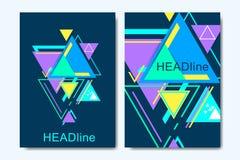 Шаблоны вектора дела для брошюры, крышки, знамени, рогульки, годового отчета, листовки Современная предпосылка треугольника битни бесплатная иллюстрация