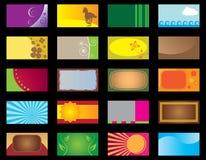 шаблоны визитной карточки установленные Стоковые Фото