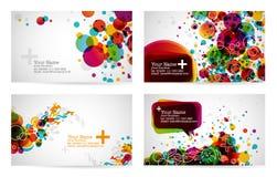 шаблоны визитной карточки иллюстрация штока