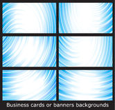 шаблоны визитных карточек знамен предпосылок Стоковое Фото