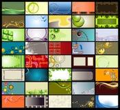 шаблоны визитных карточек Стоковые Фото