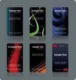 шаблоны визитных карточек Стоковые Изображения RF