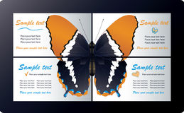 шаблоны визитных карточек Стоковые Изображения