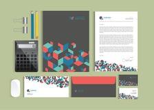 Шаблоны дизайна идентичности дела Комплект канцелярских принадлежностей Стоковое Изображение RF