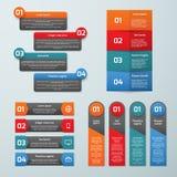 Шаблоны постепенного вектора вариантов infographic бесплатная иллюстрация