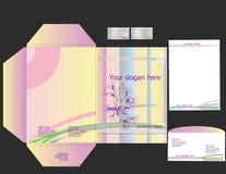 шаблоны типа корпоративной флористической тождественности установленные Стоковые Фотографии RF