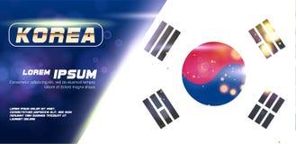 Шаблоны фирменного стиля дела для брошюры рогулек Стиль конспекта крышки годового отчета на флаге Южной Кореи бесплатная иллюстрация
