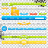 Шаблоны элемента меню сети