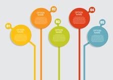 Шаблоны Infographic для вектора дела Стоковая Фотография RF