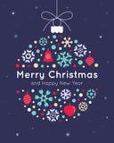 шаблон архива eps рождества 8 карточек включенный Стоковые Изображения