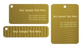 шаблон бирок подарка установленный Стоковая Фотография RF