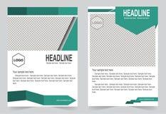 Шаблон брошюры, дизайн рогульки, ба вектора конспекта зеленого цвета иллюстрация вектора