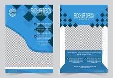 Шаблон брошюры, дизайн рогульки, голубой bac вектора конспекта цвета Стоковые Изображения RF